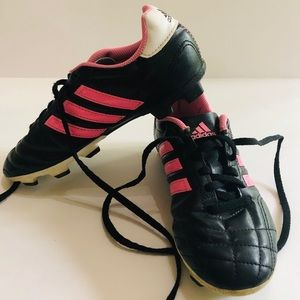 Adidas Girls' Pink & Black Soccer Cleats Sz. 3.5